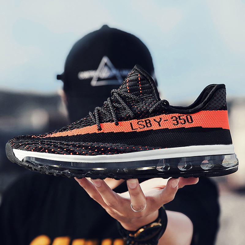 2019 New Fashion Breathable Air Mesh Men's Running Shoes Summer Footwear Athletic Flyknit Ultra Boost Sneakers