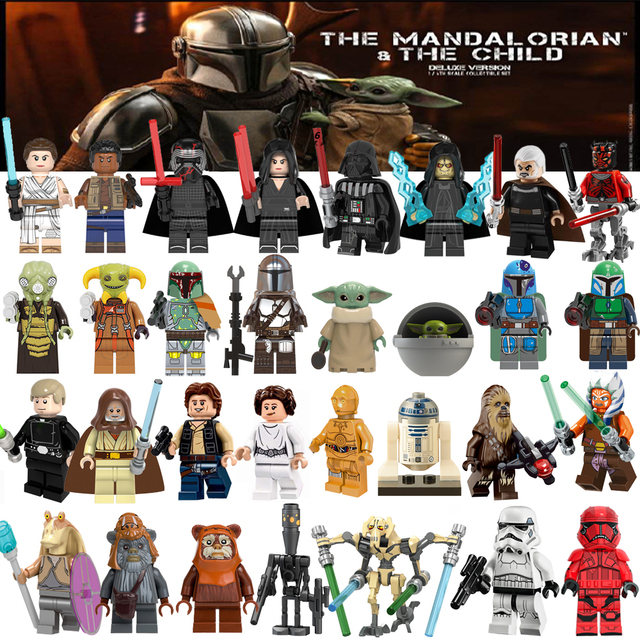 For Star Space Mandalorian Warsing Boba Jango Fetts Starwarsing action FigureS Building Blocks Kids Toys For Boys Children