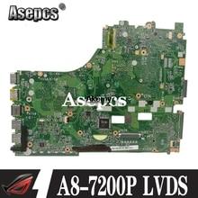 X550ZA Scheda Madre Del Computer Portatile per For Asus X550ZE X550ZA K550Z A555Z VM590Z A8-7200P Lvds Originale Mainboard Prova di 100% Ok