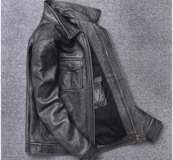 H477e8e72f933450bb31fe1431e9f9d74O YR!Free shipping.sales.Clearance.$99.99 cowhide jacket.mens genuine leather coat.fashion vintage casual leather outwear.classic
