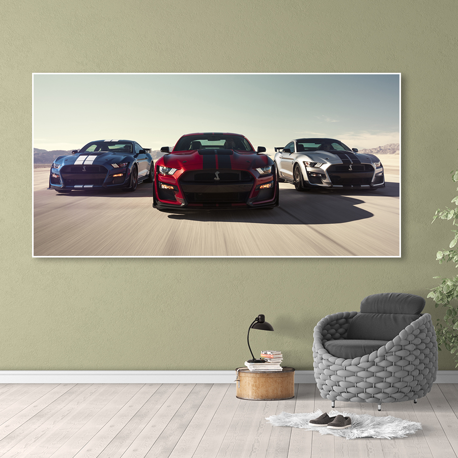 Wall Art Picture Sports Car Canvas HD Print 1 Panel Luxury Cars Ford Mustang Shelby Gt500 Home Decor Poster Painting Living Room