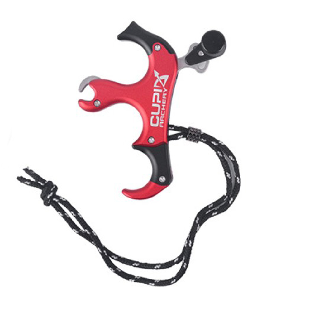 Details about  /Archery Release Aids Trigger 3 Fingers Thumb Caliper Compound Bow Hunting