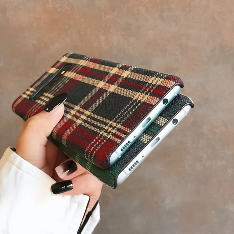 H477edcb3446048a5bf6c048f29bcf9f5h YHBBCASES Retro England Tweed Plaid Fabric Hard Cases For Samsung Note 10 Plus Note 8 9 Grid Cloth Texture Phone Cover For Samsung Galaxy S10 S8 S9 Plus Winter Warm Checkered Couples Phone Case