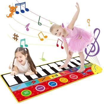 Large Size Musical Mat Baby Play Piano Mat Keyboard Toy Music Instrument Game Carpet Music Toys Educational Toys for Kid Gifts popular musical instrument keyboard toys portable baby kids animal farm music piano developmental toy children gifts