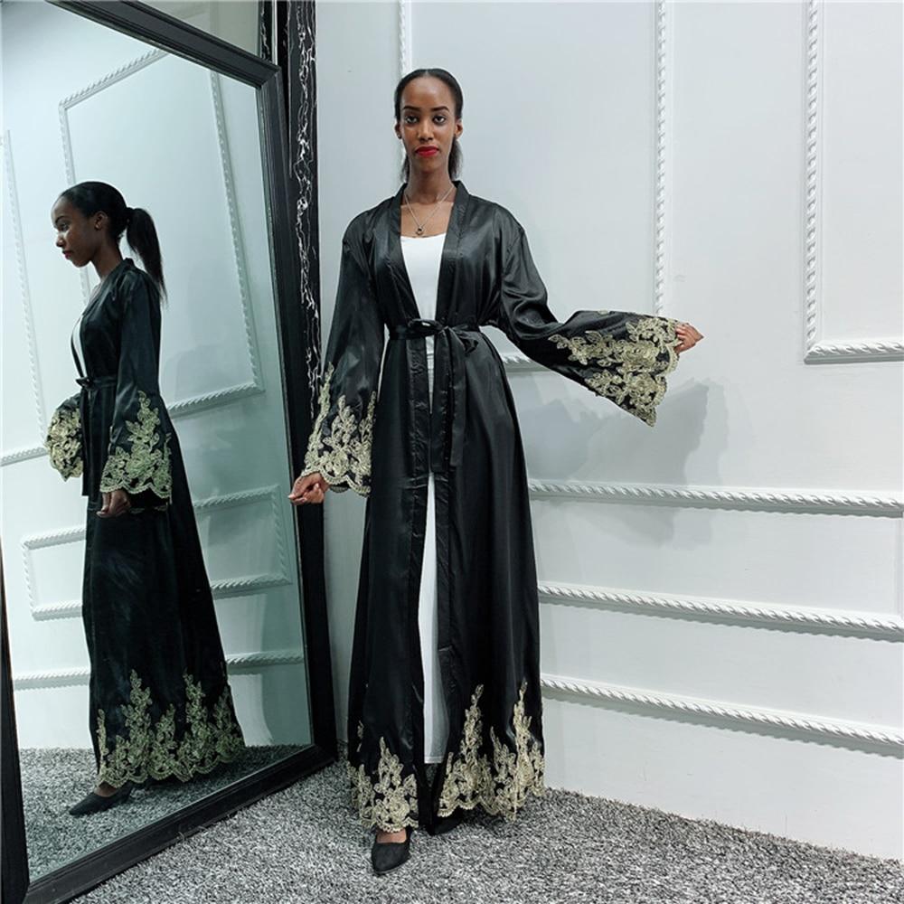 Black Abaya Kimono Cardigan Hijab Muslim Dress Women Saudi Turkish Islamic Clothing African Kaftan Dubai Caftan Pakistan Ramadan