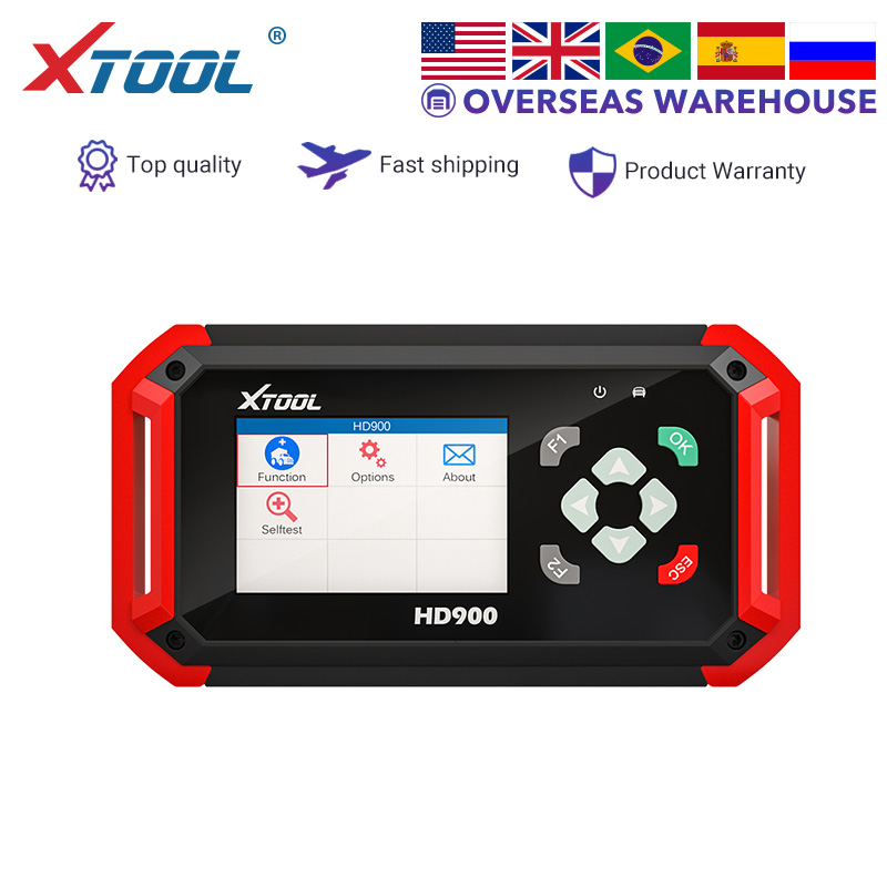 XTOOL HD900 Heavy Duty Truck Code Reader Auto Diagnostic Device Tool Car Scanner Engine Light  Realtime Data CAN BUS Free Update