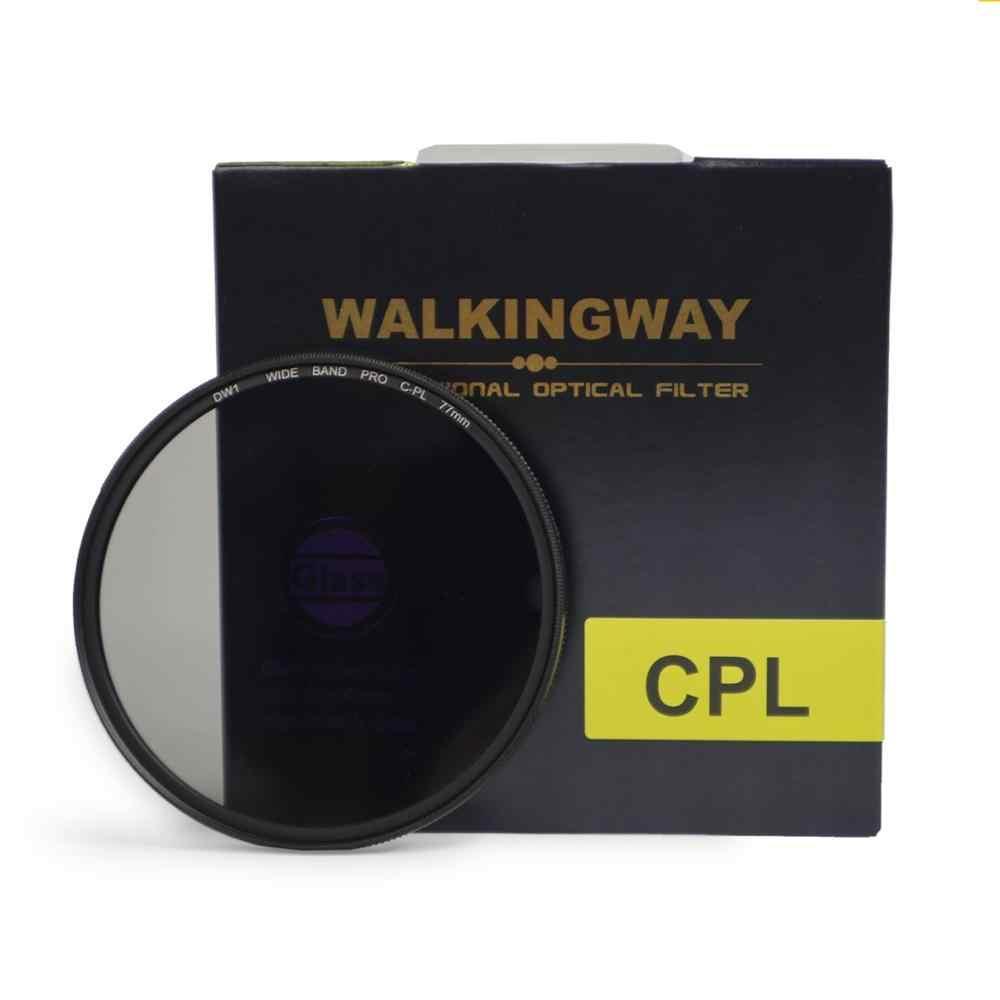 Walkingway Filtor CIR-PL Filtros Câmera CPL Filtro de Polarização Circular para Canon Nikon Lente Da Câmera DSLR 52/55/58 /62/67/72/77/82