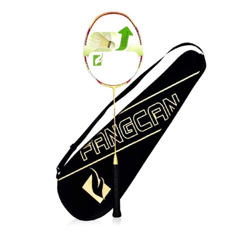 3U Carbon Fiber Badminton Racket Nylon Cable Lightweight High Eastic Single Badminton Racket Durable Middle And Senior Racquet