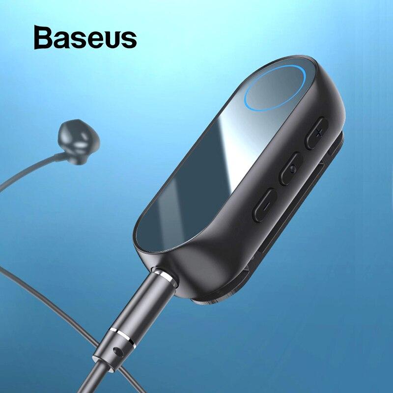 Baseus Bluetooth 5.0 Receiver 3.5mm Jack Audio Bluetooth Transmitter For Earphone Headphone Speaker Wireless Bluetooth Adapter