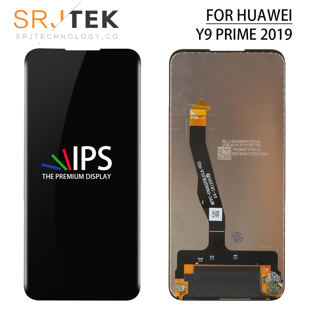 Srjtek Tested For Huawei HONOR 9X LCD Touch Glass Panel Replacement Parts For Huawei HONOR 9X Display Sensor For HONOR 9 X Screen Frame Repair Parts Black/Blue