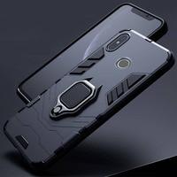 Per Xiaomi Redmi Note 5 6 Pro custodia armatura copertura per PC supporto per anello in metallo custodia per telefono per Mi A2 A 2 lite Cover paraurti rigido antiurto