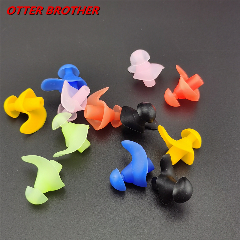 1 Pair Professional Waterproof Swimming Silicone Swim Earplugs Adult Swimmers Children Diving Soft Anti-Noise Pool Ear Plug