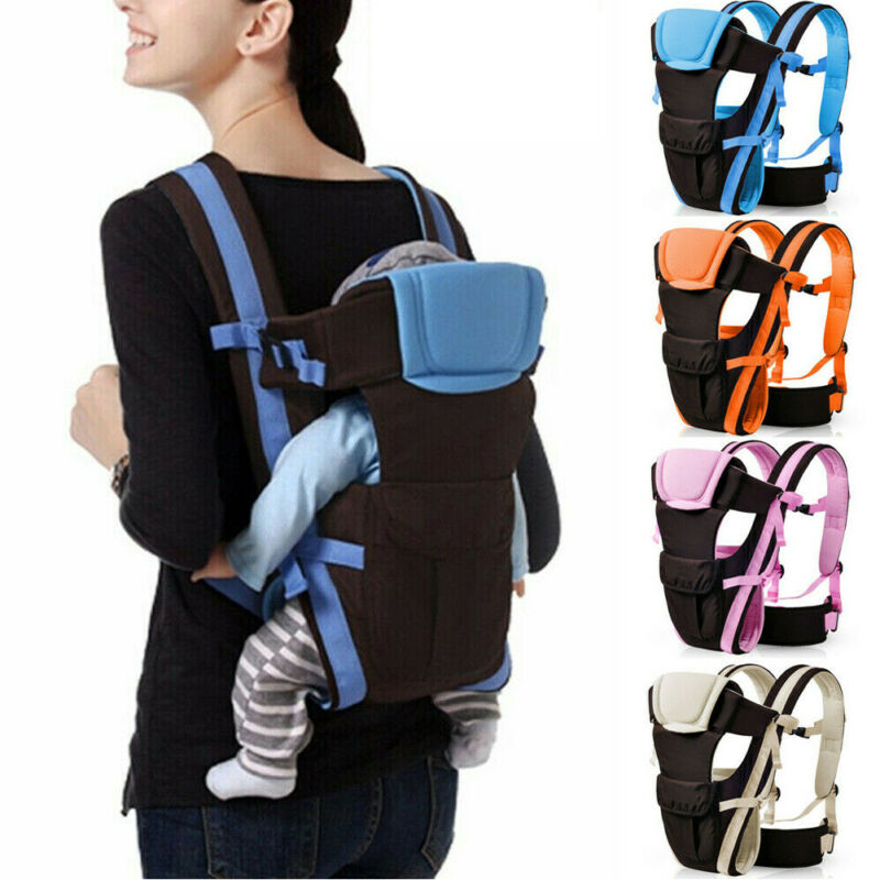 New Adjustable Ergonomic Newborn Baby Carrier Sling Wrap Backpack Front Back Chest Position Breathable