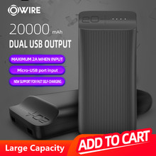 OWIRE Power Bank 20000mAh Powerbank For Xiaomi mi Power Bank External Battery Mobile Portable Charger(China)