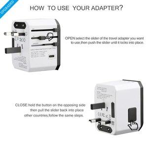 Image 4 - Adaptateur de voyage Rdxone adaptateur secteur universel chargeur adaptateur mondial prises électriques murales convertisseur de prises pour téléphones mobiles