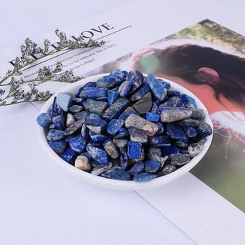 Naturalny niebieski lapis lazuli polerowane kryształy kwarcu próbki żwiru kamienie naturalne i minerały akwariowe tanie i dobre opinie CN (pochodzenie) MASKOTKA Nowoczesne Kamień
