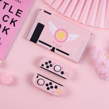 Girly Rosa Solido per il Caso di Nintendo Interruttore NS Gioia Con copertura Sakura Della Copertura di Caso per Interruttore Nintedo per la Varietà Sakura cute Cat