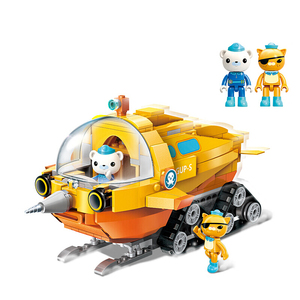 Image 2 - Genuine Octonauts Narwhal Boat Building Block Toys Educational DIY Assembled Ship Small Particles Blocks Bricks Children Toy