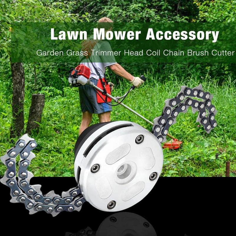 Universal 65Mn Trimmer Head Coil Chain Brush Garden Chain Mower Thickening Head Upgraded For Lawn With Grass Trimmer I0I7