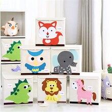3D Embroider Cartoon Animal Storage Box for Kid Toy Organizer Drawer Underwear Storage Book Organizer Boxes Holder Box kid s box 3 activity book