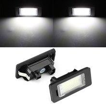 2 pçs para bmw e39 e60 luz da placa de licença 6000k branco nenhum erro conduziu a luz da placa de licença número para bmw e90 e91 e92 e61 e70 e71