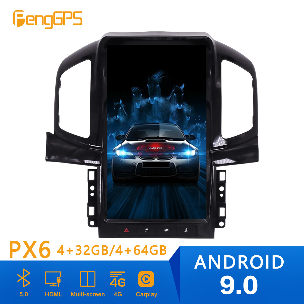 Tesla style Android 9.0 Car Radio GPS Navigation For Chevrolet Captiva 2013 2014 2015 2016 2017 Car Auto Stereo Unit DVD Player image