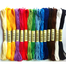 10 pack 50 skeins colour Mix Colors Cross Stitch Cotton Sewing Skeins Embroidery Thread Floss Kit DIY Tools