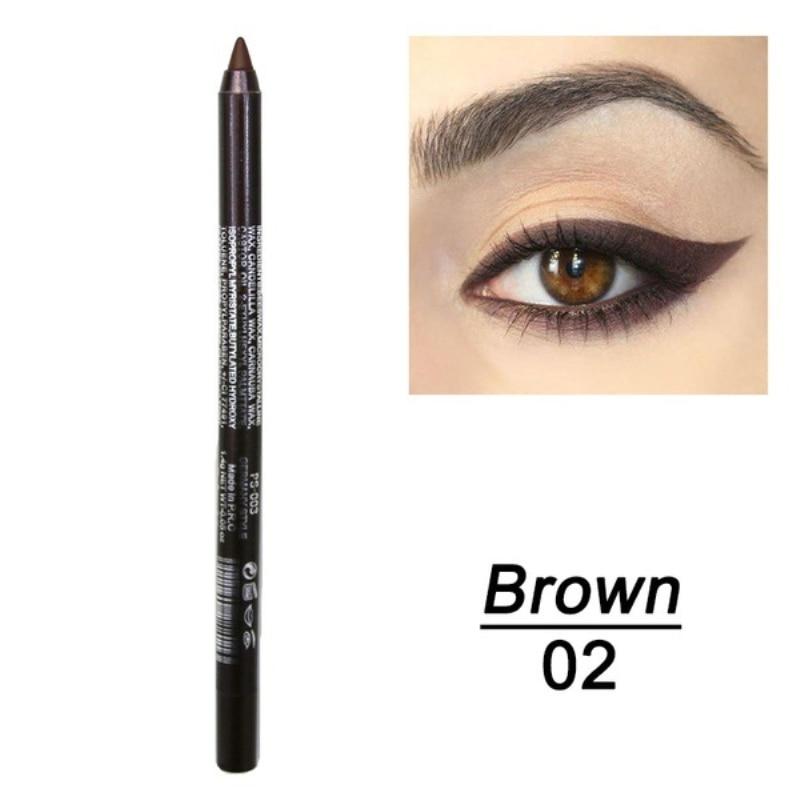 1 шт. стойкий карандаш для глаз водостойкий 14 цветов карандаш для глаз карандаш для век косметические инструменты для макияжа оптом TSLM2 - Цвет: 02