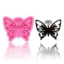 1 шт кристальная Реалистичная бабочка силиконовая форма розовый