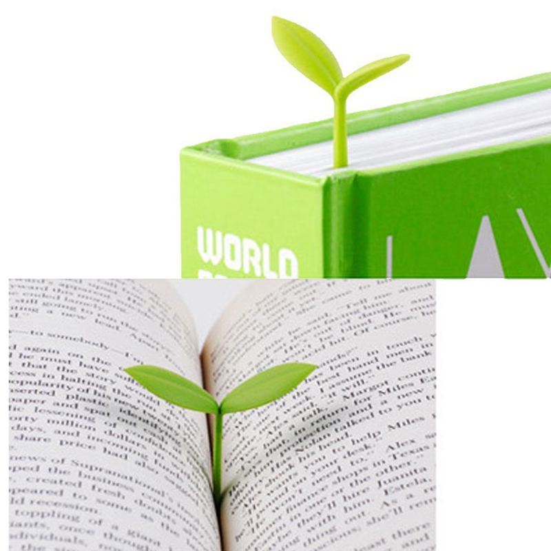 6 X Bookmark Creative Little Bookmarks Silicone Buds Cute Little Grass (light Green)