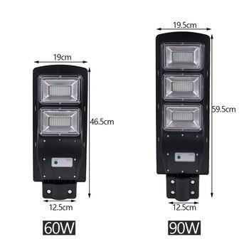 Newest 60W 120 LED 2835SMD Solar Sensor Outdoor Light with Light Control and Radar Sensor Black 6