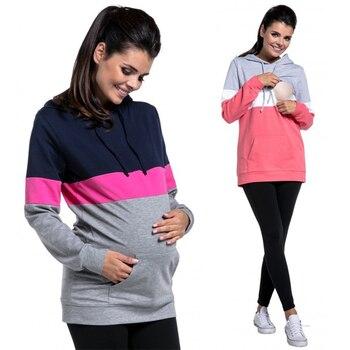 Maternity Hoodies Sweatsgurt Pregnant Woman Nursing Pullover Breastfeeding Women Mother Breast Feeding Clothing