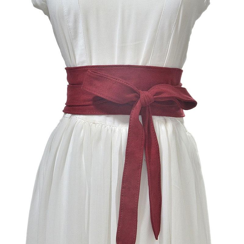 Soft Velvet Women Belt New Fashion Lady Elegant Wide Plush Velvet Belts Accessories Unbuckled Belt