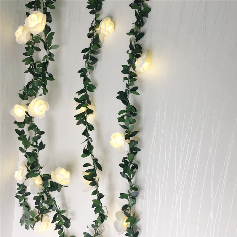 10/20/40 Leds AA Battery Operated LED Rose String Lights Holiday Valentine Wedding Xmas Decoration Lights Flower Bulbs LED Lamp