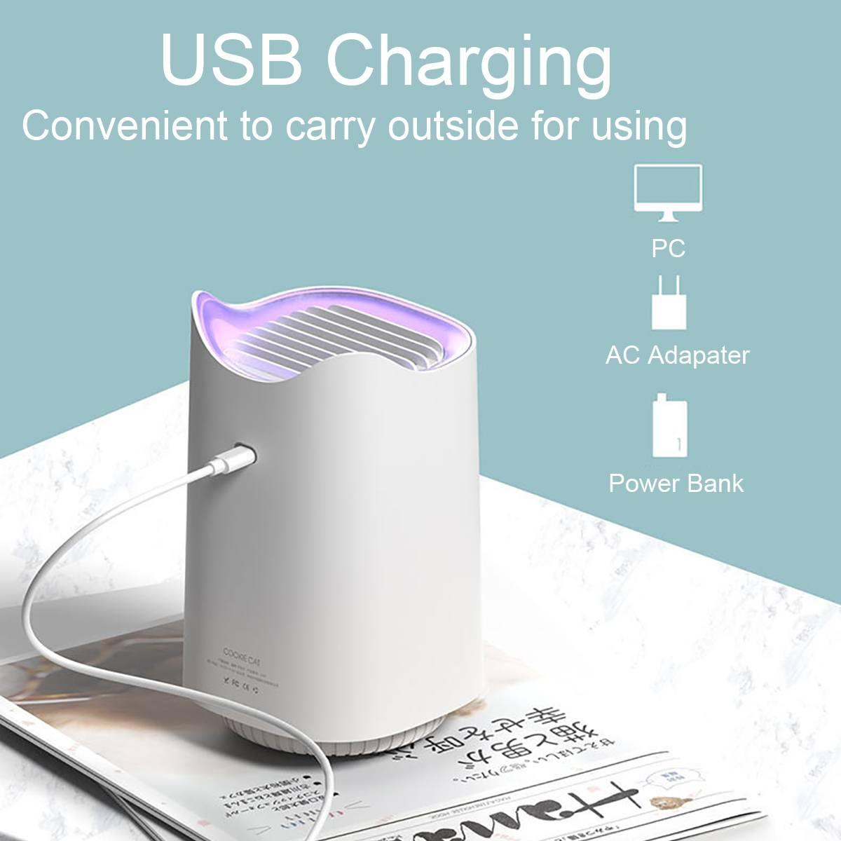 USB UV Mosquito Repellent Light Non-radiation Mute LED Lamp Insect Killer