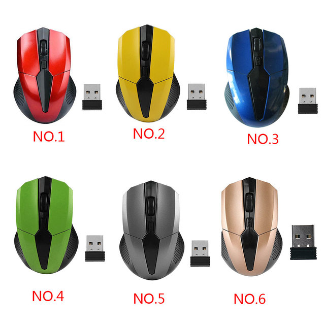 Portable 319 2.4Ghz Wireless Mouse Adjustable 1200DPI Optical Gaming Mouse Wireless Home Office Game Mice for PC Computer Laptop 2