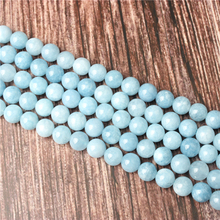 Hot Sale Natural Stone Aquamarine Dark Beads 15.5 Pick Size: 4 6 8 10 mm fit Diy Charms Beads Jewelry Making Accessories