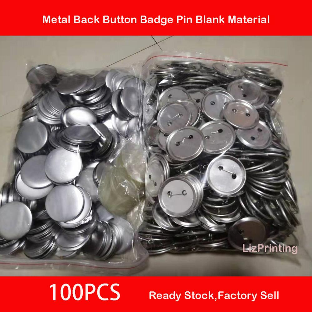 58mm Button Badge Round DIY Badge Button Pins  Blank Raw Material Pins Buttons Badges Supplies Parts 100PCS