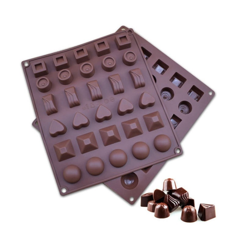 New Silicone Chocolate Mold 30 Grids Chocolate Baking Tools Non-stick Cake Mold Jelly And Candy Mold 3D Mold For Children