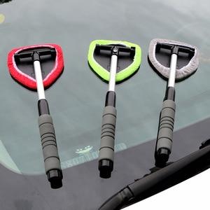 Image 2 - LEEPEE eliminador de niebla para ventana, limpiador de microfibra para limpieza de parabrisas de coche, cepillo telescópico de vidrio