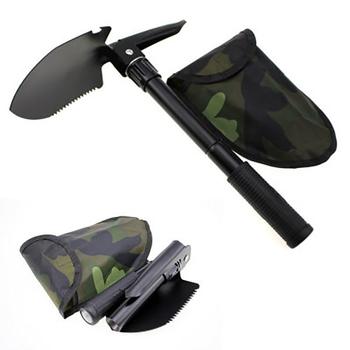 Wojskowa przenośna składana łopata plażowa łopata survivalowa kielnia terenowe narzędzie kempingowe tanie i dobre opinie Kemping Łopaty