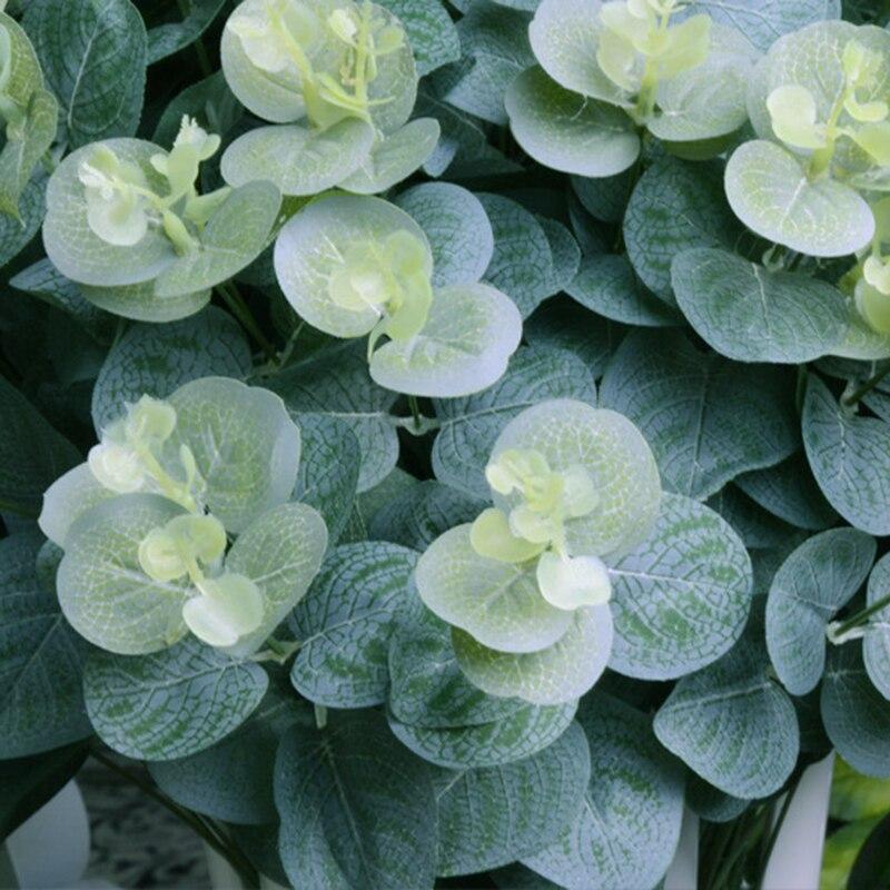Hoja Artificial falsa de 16 cabezas, ramo de flores de seda Artificial, decoración del hogar con hojas, planta de flores de imitación, follaje - 3