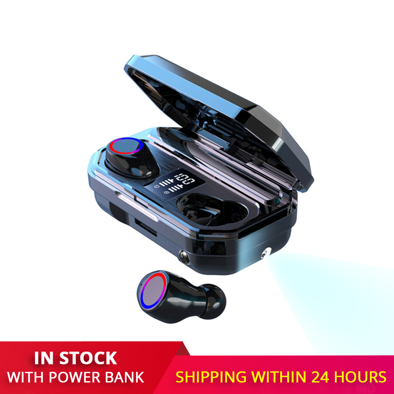 New TWS Wireless Earbuds Bluetooth Headphone Sports Earphones Gaming Headset Portable Led Display With Power Bank fone de ouvido