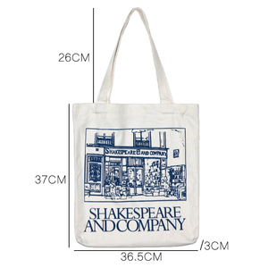 Image 2 - Youda Simple Ladies Canvas Bag Casual Large Capacity Printing Handbag Fashion Shoulder Bags Recycling Shopping Tote Pouch