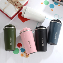 Double Stainless steel Coffee Mug Vacuum Flasks Thermoses Water Bottle Drinkware Outdoor Leak-Proof Travel Thermo Cups For Gifts stainless steel thermoes vacuum flasks insulation mug cup fashion popular mug travel thermoses coffee and lovers cups 320ml