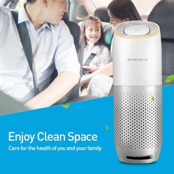Мини портативный автомобильный очиститель воздуха USB HEPA свежий воздух отрицательный ион очиститель кислорода удаляет PM2.5 запахи дыма освеж...