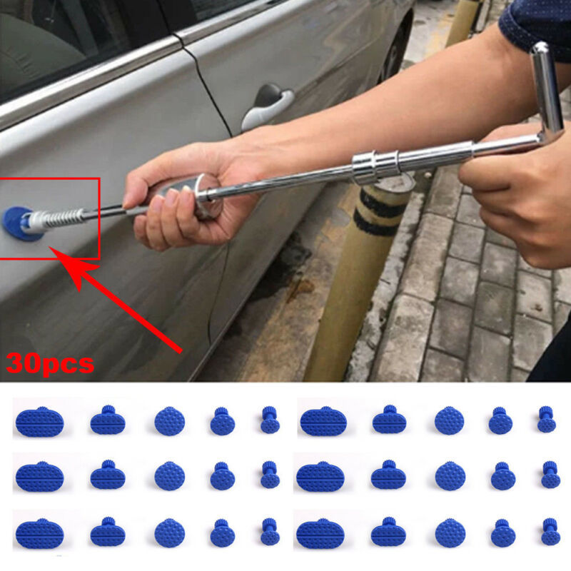 30pcs Glue Tabs Auto Body Pulling Paintless Dent Repair Tools Glue Tabs Fungus Suction Cup Suckers