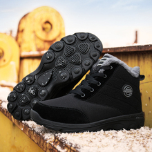 купить Super Warm Men Winter Boots Unisex Snow Boots for Men Waterproof Warm Winter Shoes Men's Ankle Boots with Fur Botas Hombre Shoes дешево