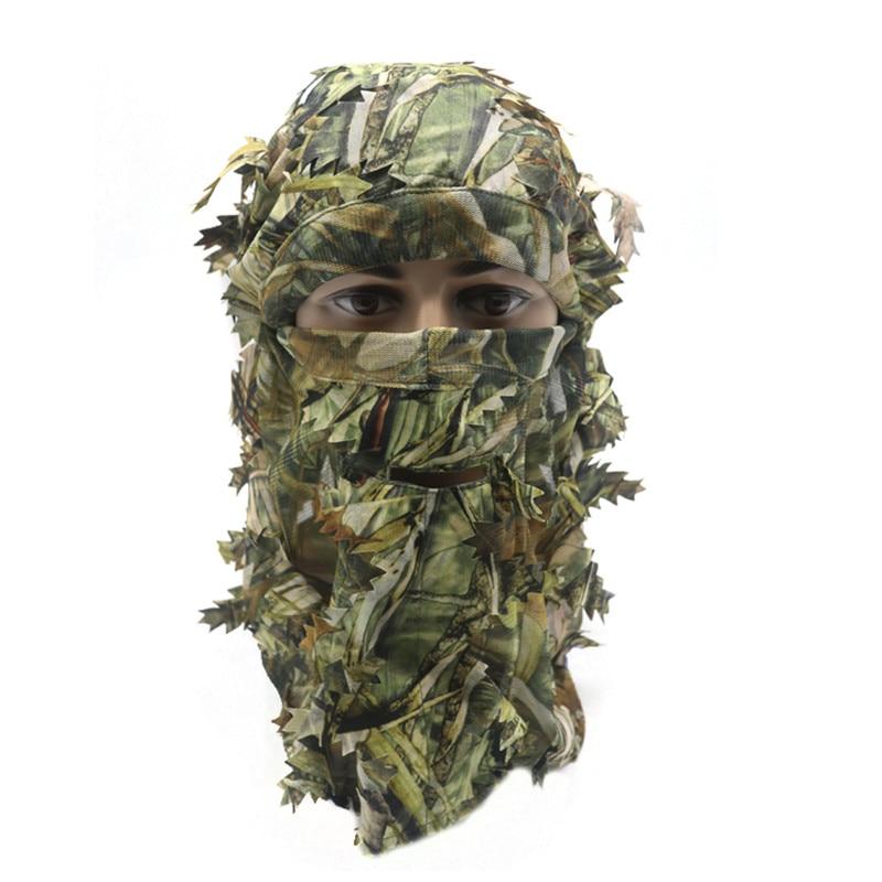 3D Stereo Camouflage Facial Mask Sheet Turkey Hunting Mask Hat Balaclava Full Forest CS Facial Mask Hot - Цвет: B2