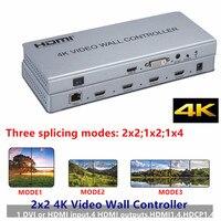 2x2 4K 1080P HDMI Video Wall Controller Adapter LCD Digital TV Hdmi DVI wall Processor 3ways Splitter For Display Equipment HDTV